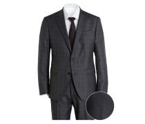 Anzug Slim-Fit - dunkelgrau/ blau kariert