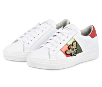 Sneaker - weiss/ grün/ rot