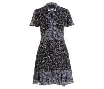 Kleid - schwarz / weiss