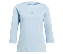 Shirt FLORENA mit 3/4-Arm - hellblau