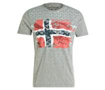 T-Shirt SELO - grau meliert