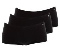 3er-Pack Panties 95/5 - schwarz
