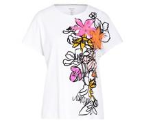 T-Shirt mit Perlen- und Paillettenbesatz