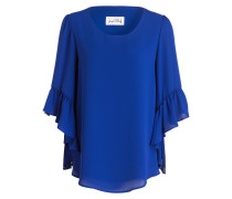 Bluse mit 3/4-Arm - royal