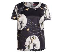 T-Shirt CISIL - schwarz/ ivory/ grün