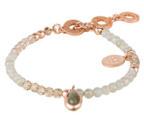 Armband BE HAPPY - roségold/ khaki