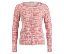 Cashmere-Cardigan - creme/ pink