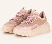 Plateau-Sneaker - ROSA/ CAMEL