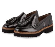Plateau-Loafer mit Tassel - schwarz