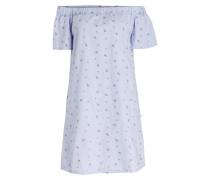 Off-Shoulder-Kleid TIANA - blau