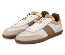 Sneaker CASSETTA - WEISS/ COGNAC/ HELLGRAU