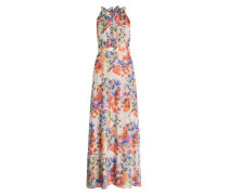 Maxikleid - creme/ blau/ orange