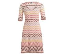Kleid - rosa/ gelb/ braun