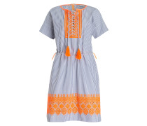 Kleid EMELIE - blau/ weiss gestreift