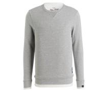 Sweatshirt LIFE - grau meliert