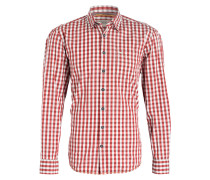 Hemd JACK Regular-Fit - rot/ weiss