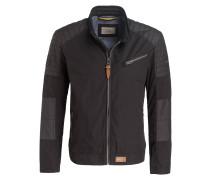 Jacke im Biker-Stil - schwarz