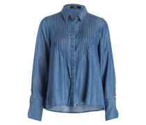 Bluse in Denimoptik - blau