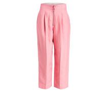 7/8-Hose mit Leinen-Anteil - pink