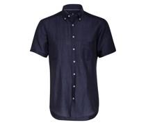 Kurzarm-Hemd Regular Fit mit Leinen