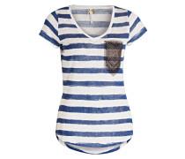 T-Shirt JOSY - blau/ weiss gestreift