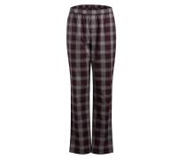 Pyjamahose - burgunder/ grau
