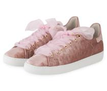 Samt-Sneaker - rosé