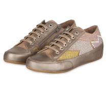 Sneaker ROCK mit Nieten - taupe metallic