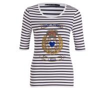 T-Shirt - navy/ weiss gestreift