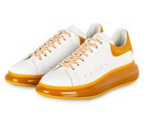Sneaker - WEISS/ DUNKELGELB