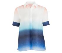 Bluse CARL - weiss/ blau/ orange