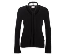 Cashmere-Pullover mit Schal - schwarz
