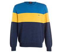 Pullover - blau/ gelb/ navy