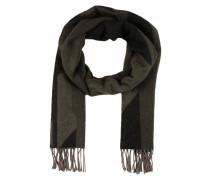 Schal - schwarz/ oliv