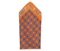 Einstecktuch - orange/ blau