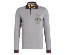 Piqué-Poloshirt - grau