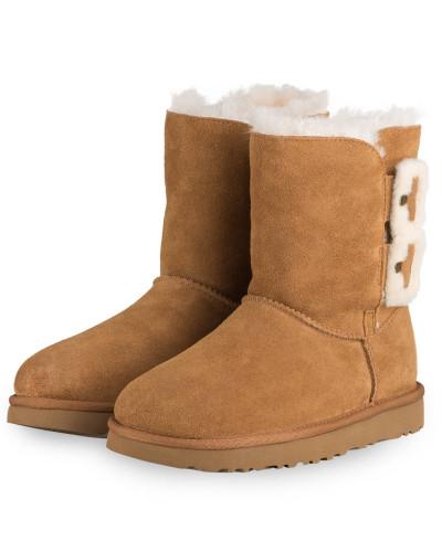 Boots BAILEY FLUFF BUCKLE - BRAUN