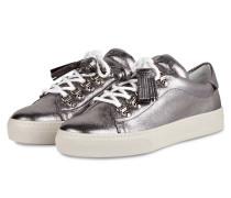 Sneaker mit Tassel - silber metallic