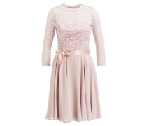 Kleid mit Spitzenbesatz - hellrosa