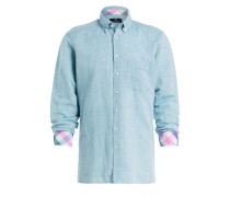 Hemd Tailored Fit mit Leinenanteil