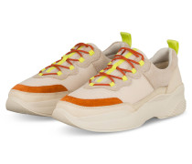 Plateau-Sneaker - CREME/ ORANGE/ GELB