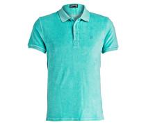 Frottee-Poloshirt - mint