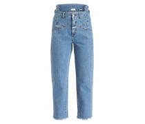 Mom-Jeans PEDAL 85 - cut and paste  blue