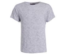 T-Shirt mit Leinenanteil - blau