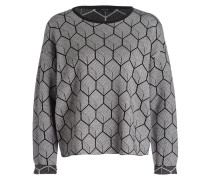 Pullover PEETJE HEXAGON - schwarz/ weiss