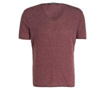 T-Shirt BRADY - bordeaux/weiss meliert