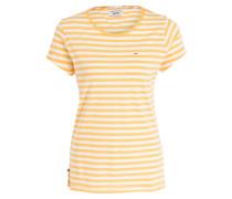 T-Shirt - gelb/ weiss gestreift