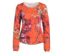 Pullover - orange/ pink/ grün