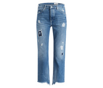Destroyed-Jeans - washed denim blue combo