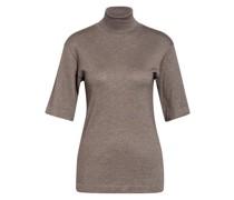 Kurzarm-Pullover mit Cashmere